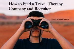 How to find a travel therapy company and recruiter post picture