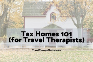 Travel Therapy Mentor Tax Home